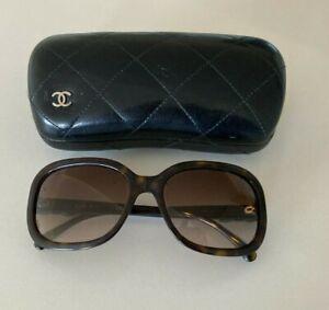 CHANEL 5280-Q c.714/S5 Havana Brown Bows Sunglasses 58*18*135 Tortoise Frame ITA