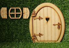 Large Opening Wooden Fairy Door Craft Kit - 8 inch Fairy Door with Fairy Window