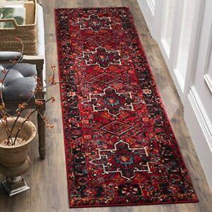 """Hamadan VTH211A Oriental Traditional Persian Bedroom Runner, 2'3"""" x 8' , Red /"""