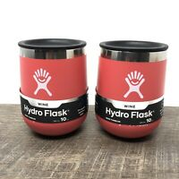 Hydro Flask 10 oz Wine Insulated Stainless Steel Tumbler Watermelon - Set Of 2