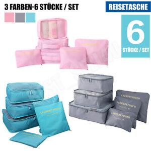 Koffer Organizer Set 6-teilig Reise Kleidertaschen Reisegepäck Kleidung Kosmetik