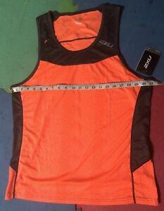 2XU Ice X Running Tank/Singlet Size XL Bright Orange