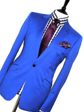 BNWT Homme Duchamp London Bright Essence Slim Fit Sur Mesure costume 40R W34