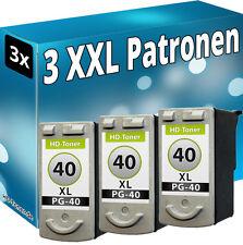 3x TINTE PATRONEN für CANON  PG40 PIXMA  MP140 MP150 MP160 MP170 MP180 MP190
