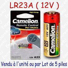 Pile Spécifique Alcaline : LR23A A23 V23GA MN21 GP23A 12V : à l'unité ou par 5