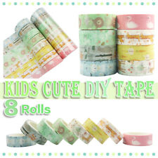 8roll Cartoon Animal Washi Tape DIY Scrapbooking Adhesive Paper Sticker Decor