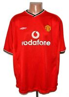 MANCHESTER UNITED 2000/2001/2002 HOME FOOTBALL SHIRT JERSEY UMBRO SIZE XXL ADULT