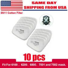10pcsset 5n11 Gas Mask Filter Cotton Filters Cartridge Mask Respirator Replace