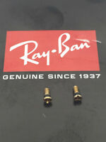 AUTHENTIC REPLACEMENT RAY-BAN RB 3025 AVIATOR TEMPLE/HINGE SCREWS GOLD PAIR NEW