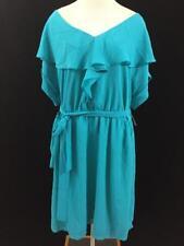 NWT Fynn & Rose dress womens size 22W plus turquoise blue NEW cap sleeve