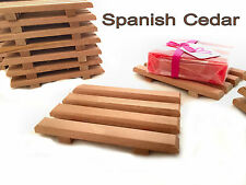 60 Spanish cedar wood soap dish - Handcrafted from natural wood made in USA