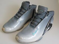 NIKE Zoom 2013 Hyperlight Shark Gray Blue Basketball Shoes 587561-400 Men's Us 9