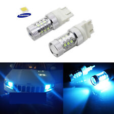 2x 10000K Ice Blue LED Light Bulbs Fit GMC Dodge Jeep Ford Daytime Running Light
