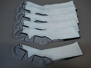 NWOT Women's No Nonsense Zone Support Socks Shoe 4-8 White/Black 6 Pair #22E