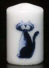 Oscar the Cat hand-decorated candle