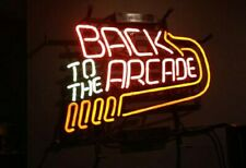 "New Back to the Arcade Wall Decor Man Cave Bar Neon Light Sign 17""x14"""