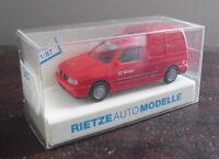 Rietze HO 1/87 Red VW Caddy Cargo Van NIP