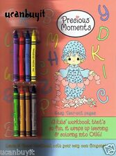 PRECIOUS MOMENTS Preschool Children's Workbook with Crayons Included Ages 3+