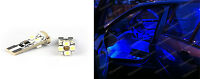 Error Free Canbus 501,W5W,T10 INTERIOR UPGRADE LED LIGHT x 2 BULBS - Blue