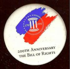 TOBACCO 1990 pin BILL RIGHTS Philip Morris 1791 - 1991 US CONSTITUTION