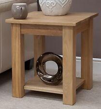 Windsor solid oak furniture side lamp table with felt pads