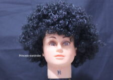 Halloween Full Black Afro Curly Wig Unisex Costume HA29