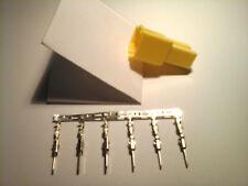 Mini ISO Buchse 6 polig Gegenstück zu gelb C1 mit 6 Flachsteckern Micro Timer FS