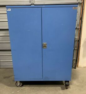 Lista 5-Drawer Industrial Tool Part Storage 2-Door Cabinet Casters 47x29.5x65.25