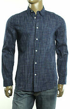 $168 New 7 Seven For All Mankind Regular Fit Tonal Check Cotton Sport Shirt M