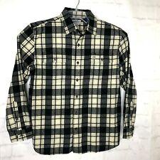 Carhartt Lg Flannel Shirt Jacket Button Up Heavy Work Shirt Plaid Multicolor