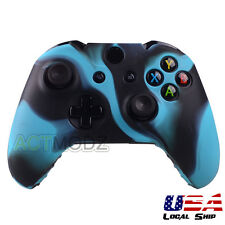Blue Camo Silicone Rubber Case Skin Grip Cover For Xbox One wireless Controller