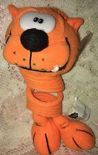 "1999 HEATHCLIFF Orange Slinky Pet 8"" ~ Spring Toy w/Suction Cup"