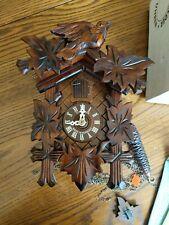 Schwarzwalder Uhren Cuckoo Clock Vintage Black Forest Schneider (missing parts)