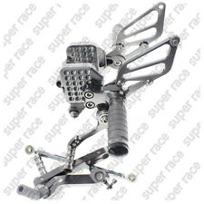 Gray CNC Adjustable Rearsets Footpegs Footrests Footrest For Ducati 999 749
