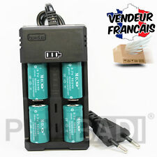 CHARGEUR RS-93 + 4 PILES ACCU RECHARGEABLE CR123A CR123 16340 3.7v 1200mAH