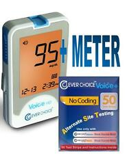 Clever Choice Auto-Code Voice HD Blood Glucose Meter With 50 Strips