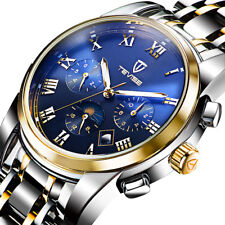 Multi-unction TEVISE Business Men Stainless Steel Automatic Mechanical Watch