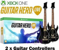 Xbox 360 Guitar Hero Live - 2 x Guitar Controllers, Straps & Dongles Accessory