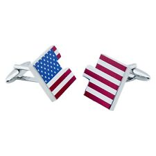 Cufflinks - Star Spangled Banner  Flag in Two Interlocking Parts