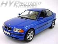 WELLY 1:24 1998 BMW 328I DIE-CAST BLUE 9395-4D N/B