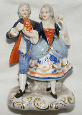 ANTIQUE UNTER WEISS BACH PORCELAIN FIGURINE OF A ROMANTIC COUPLE DANCING