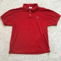 Men's Lacoste Classic Fit Polo Shirt Red Size 5 Large