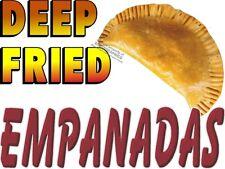 DEEP FRIED EMPANADAS VINYL DECAL (CHOOSE SIZE) CONCESSION STAND BOARDWALK