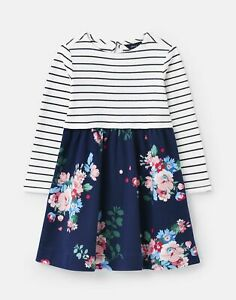 Joules Girls Layla Jersey Dress - Navy Floral - 4Yr