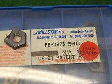 """Millstar FB-0375-R-2 TIALN Carbide Spade Drill Insert .375"""""""