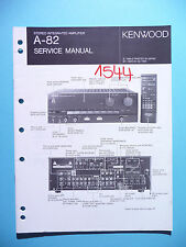Manuel de reparation pour Kenwood A-82 ,ORIGINAL