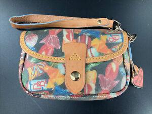 Dooney & Bourke Candy Wallet/Wristlet, Signature Pink Heart Hangtag