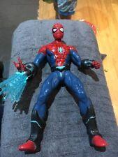"SPIDER-MAN ACTION FIGURE TOY 2012 MARVEL HASBRO 10"" LIGHTS UP TALKS"