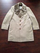 NWOT LONDON FOG Men's Faux Fur Beige Dress Coat – 38R