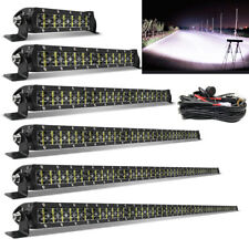Dual-Row Straight LED Light Bar Spot Beam for 4x4 Offroad 4WD 8 14 22 32 42 50''